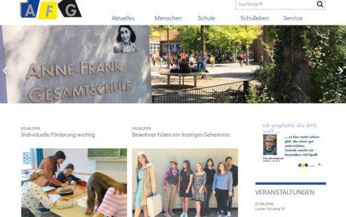 Neuer Webauftritt für Anne-Frank-Gesamtschule Havixbeck-Billerbeck