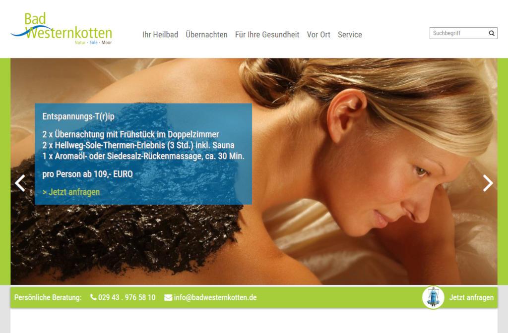 Neuer Webauftritt für Bad Westernkotten